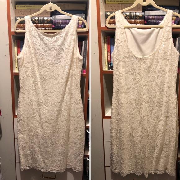 Lauren Ralph Lauren Dresses & Skirts - Ralph Lauren classic White sequin sheath dress